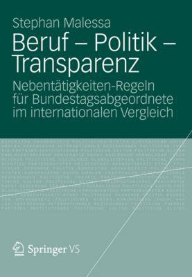 Beruf - Politik - Transparenz, Stephan Malessa