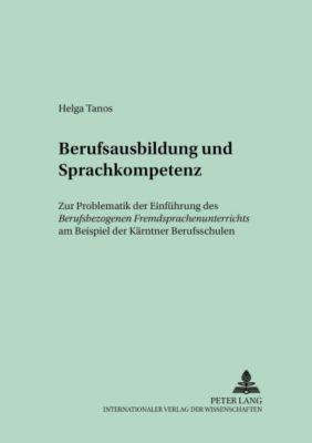 Berufsausbildung und Sprachkompetenz - Helga Tanos pdf epub