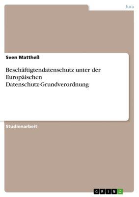 Beschäftigtendatenschutz unter der Europäischen Datenschutz-Grundverordnung, Sven Matthess