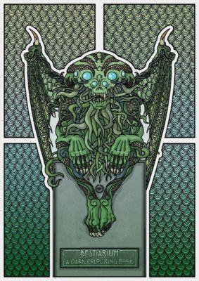Bestiarium - A Dark Colouring Book - Vladi Krafft  