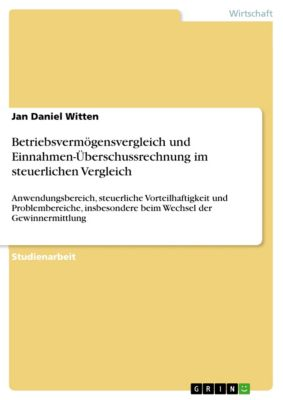 Betriebsvermögensvergleich und Einnahmen-Überschussrechnung im steuerlichen Vergleich, Jan Daniel Witten
