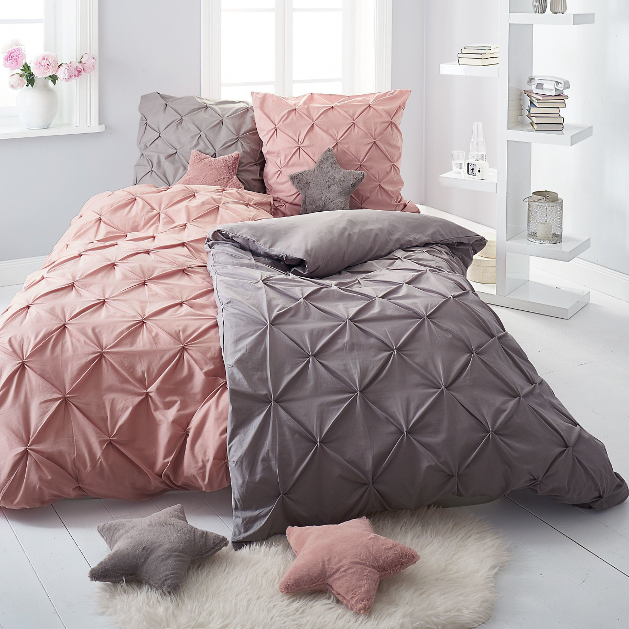 bettw sche finja grau 135 x 200 cm bestellen. Black Bedroom Furniture Sets. Home Design Ideas