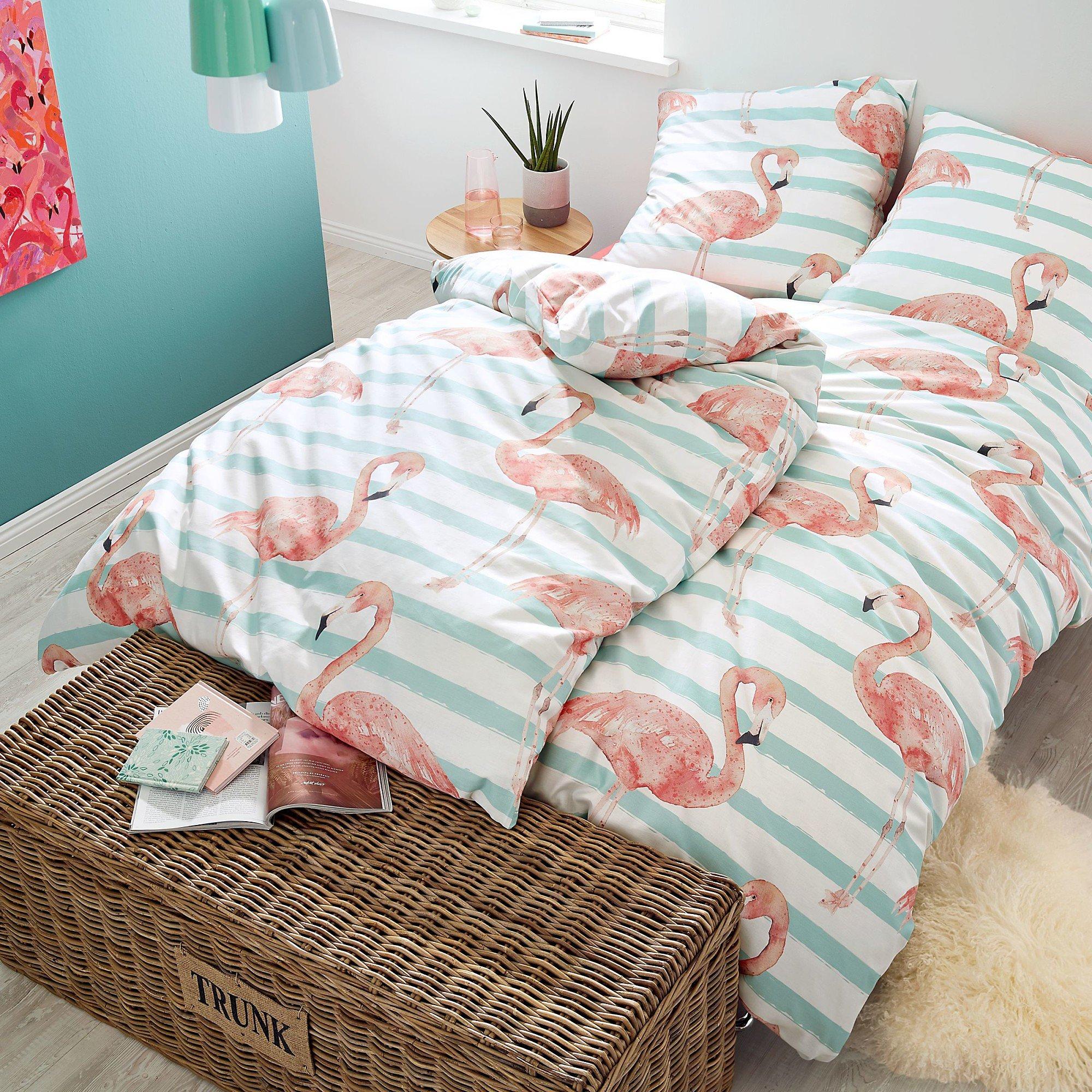 Bettwäsche Happy Flamingo Rosé 135 X 200 Cm Weltbildde
