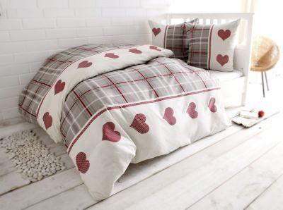 bettw sche herz biber gr e 155x220 cm bestellen. Black Bedroom Furniture Sets. Home Design Ideas