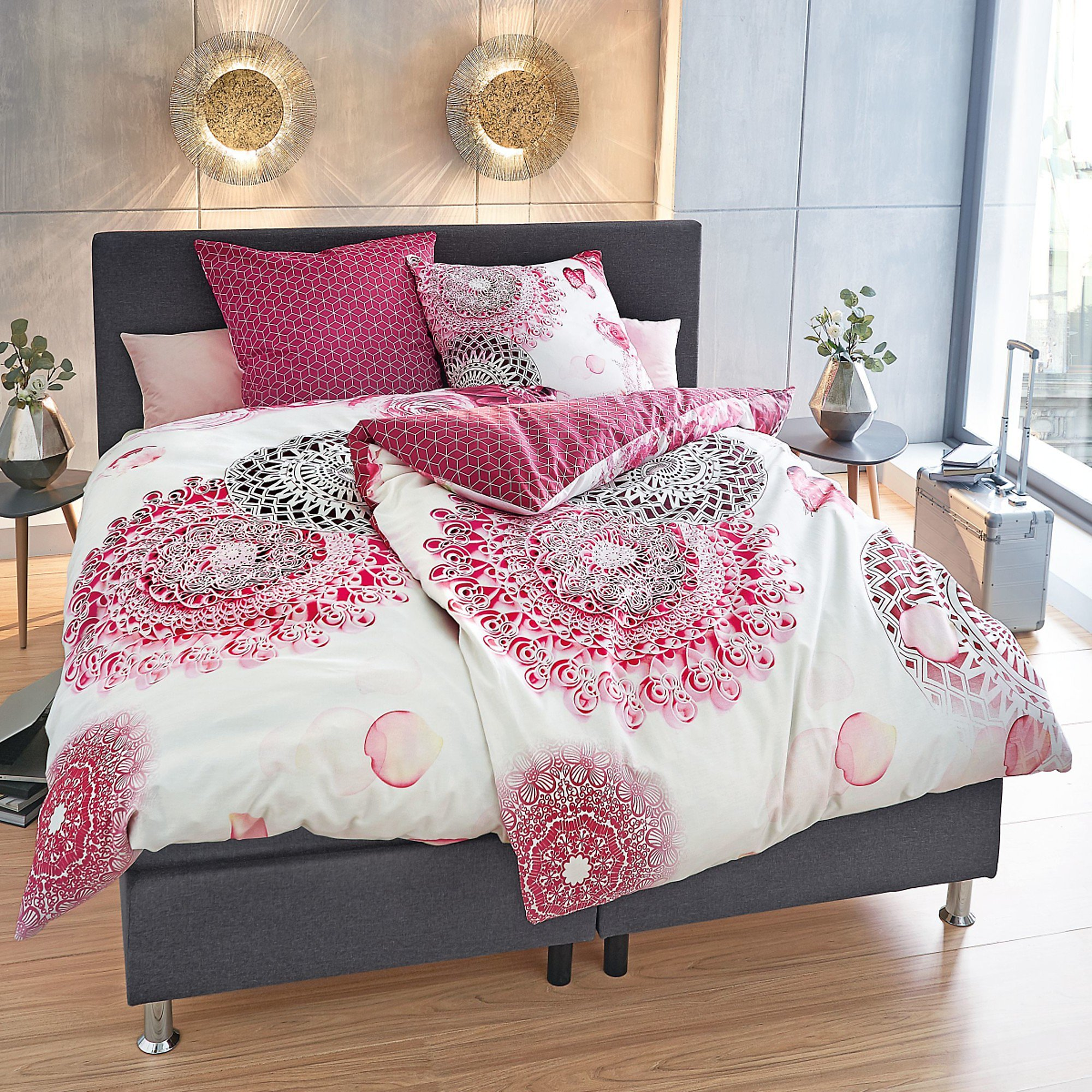 Bettwäsche Jacky Rot Weiß 135 X 200 Cm Bestellen Weltbildat