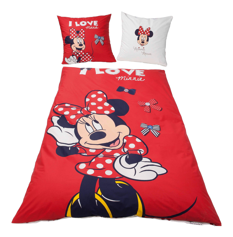 Bettwäsche Minnie Mouse Linon 135 X 200 Cm Weltbildde