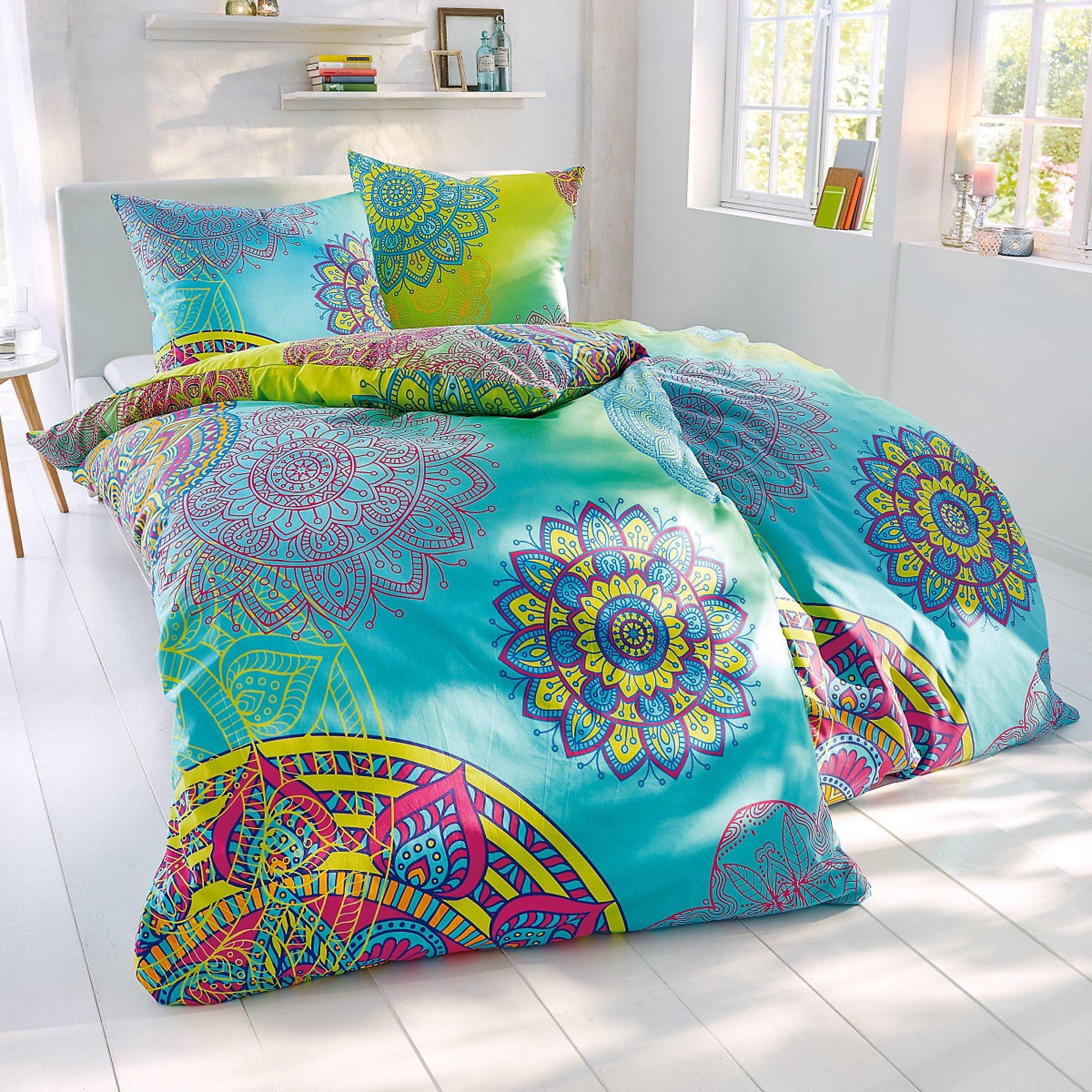 Bettwäsche 220 X 200 : bettw sche mystic blau gelb 135 x 200 cm bestellen ~ Watch28wear.com Haus und Dekorationen