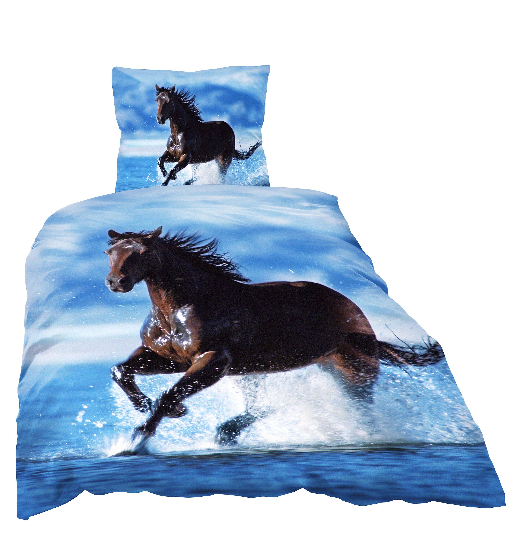 Bettwäsche Pferd Im Wasser Microfaser 135 X 200 Cm Weltbildch