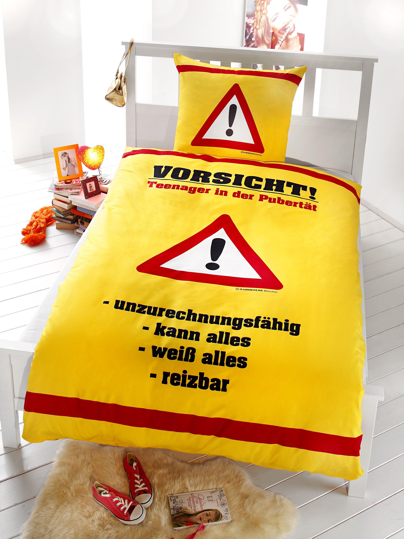 Bettwäsche Rahmenlos Vorsicht Teenager Größe 135 X 200 Cm Weltbild De