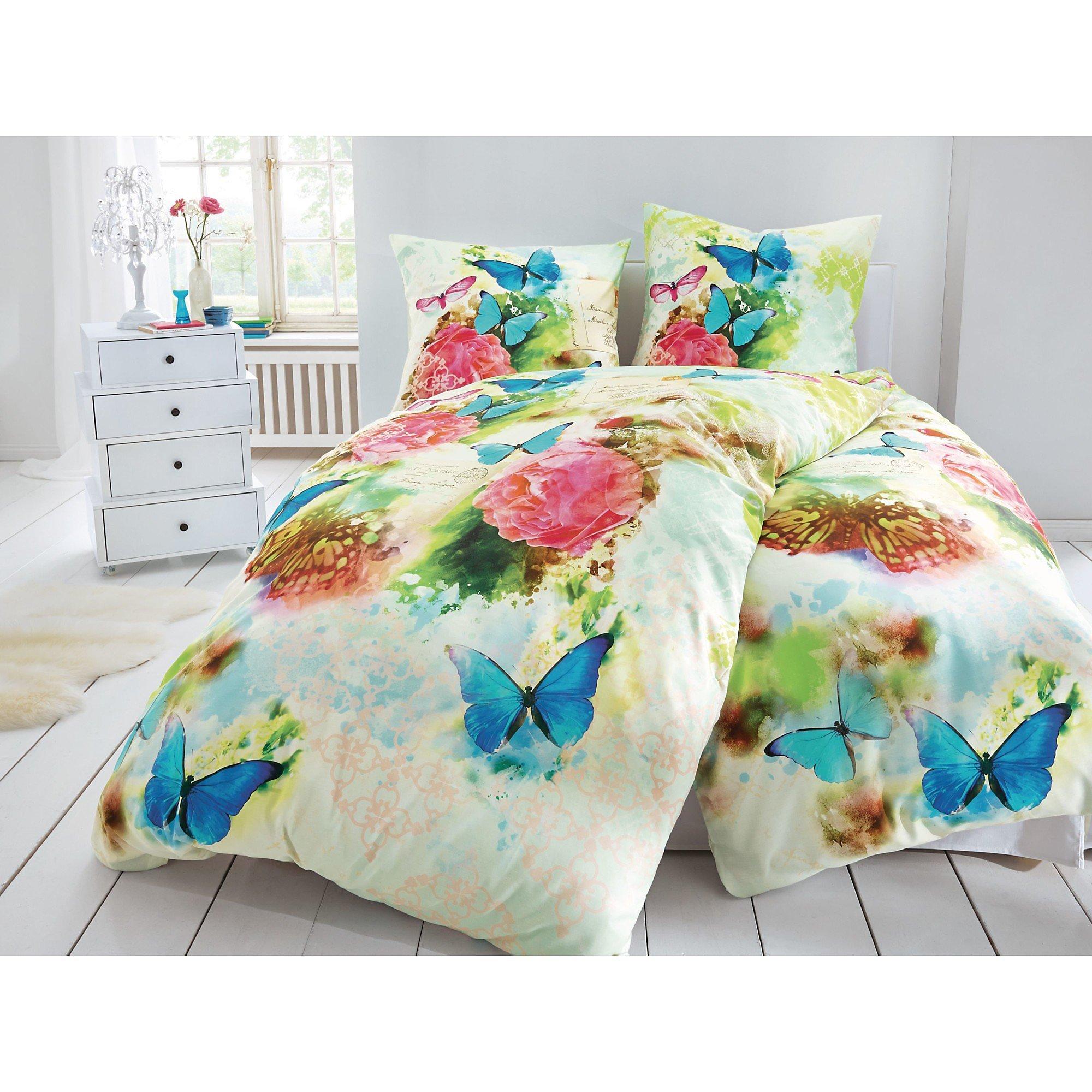 Bettwäsche Schmetterling Creme 155x220 Bestellen Weltbildde