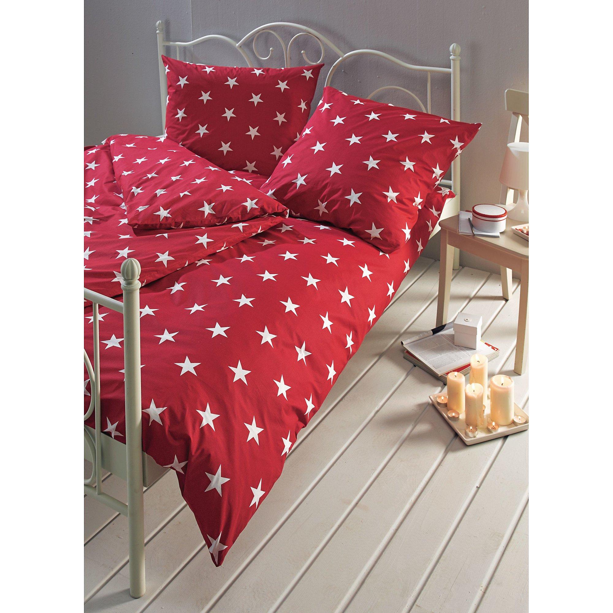 Bettwäsche Sterne Rot 155x220 Jetzt Bei Weltbildde Bestellen