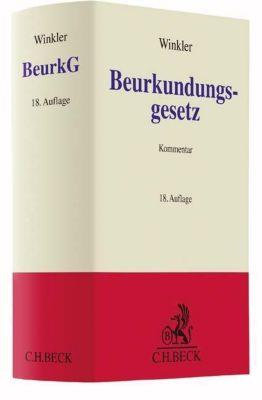 Beurkundungsgesetz (BeurkG), Kommentar, Karl Winkler