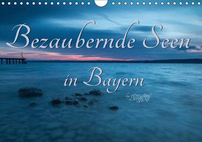 Bezaubernde Seen in Bayern (Wandkalender 2019 DIN A4 quer), Bergpixel