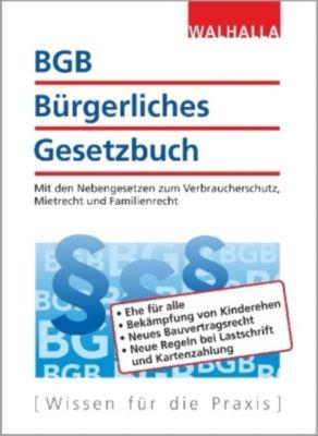 BGB Bürgerliches Gesetzbuch, Walhalla Fachredaktion