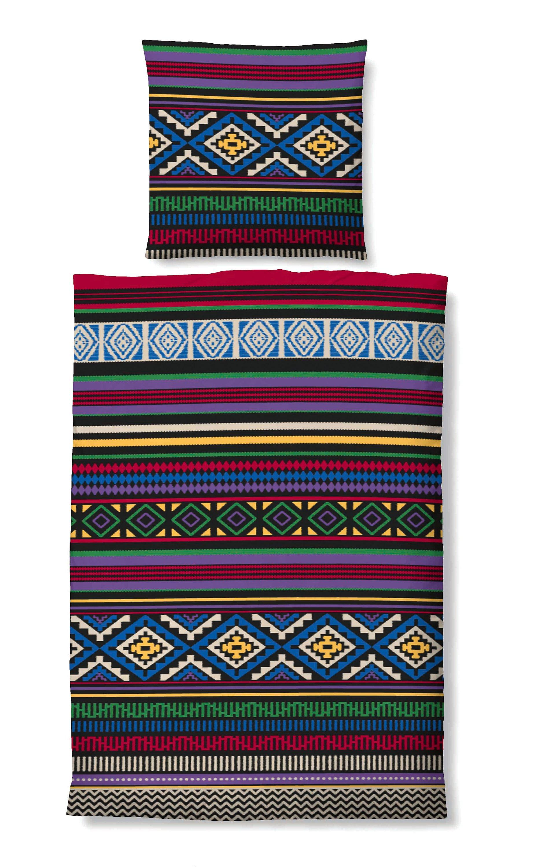 Biberna Winter Soft Seersucker Bettwäsche Indianer Größe 155x220