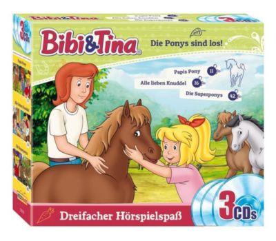Bibi & Tina - Die Ponys sind los, 3 Audio-CD, Bibi & Tina