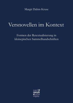 Bibliotheca Germanica: Versnovellen im Kontext, Margit Dahm-Kruse