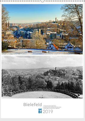 Bielefelder Fotomotive heute und damals mit historischen Ereignissen (Wandkalender 2019 DIN A2 hoch), Wolf Kloss