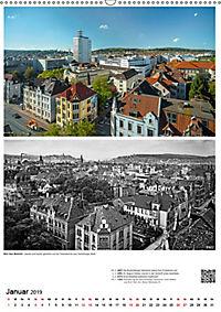 Bielefelder Fotomotive heute und damals mit historischen Ereignissen (Wandkalender 2019 DIN A2 hoch) - Produktdetailbild 1