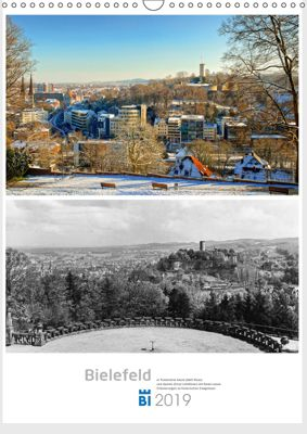 Bielefelder Fotomotive heute und damals mit historischen Ereignissen (Wandkalender 2019 DIN A3 hoch), Wolf Kloss