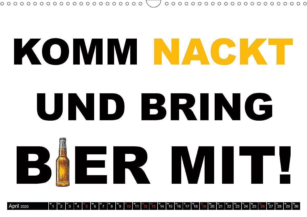 Bier Lustige Sprüche Und Grafiken Wandkalender 2020 Din A3