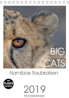 BIG CATS - Namibias Raubkatzen (Tischkalender 2019 DIN A5 hoch), Irma van der Wiel