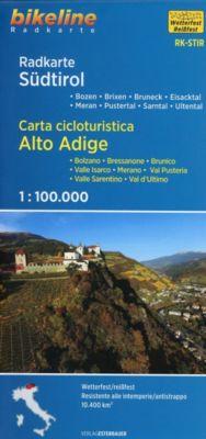 Bikeline Radkarte Südtirol; Carta cicloturistica Alto Adige
