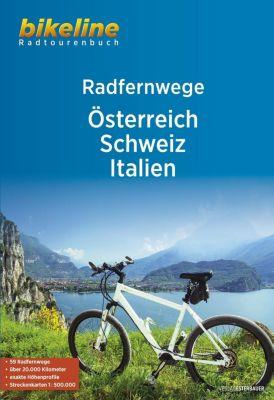 Bikeline Radtourenbuch RadFernWege Österreich, Schweiz, Italien