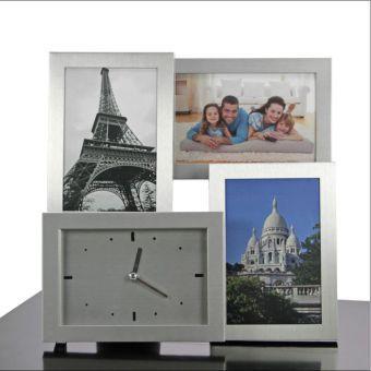 bilderrahmen 3d aluminium mit uhr jetzt bei. Black Bedroom Furniture Sets. Home Design Ideas