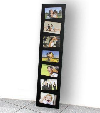 bilderrahmen holz schwarz f r 7 fotos bestellen. Black Bedroom Furniture Sets. Home Design Ideas