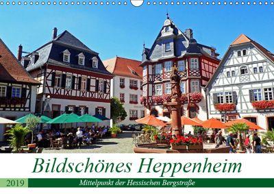Bildschönes Heppenheim Mittelpunkt der Hessischen Bergstrasse (Wandkalender 2019 DIN A3 quer), Ilona Andersen