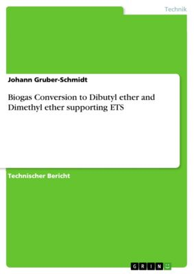 Biogas Conversion to Dibutyl ether and Dimethyl ether supporting ETS, Johann Gruber-Schmidt