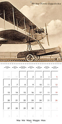Biplanes on historic postcards (Wall Calendar 2019 300 × 300 mm Square) - Produktdetailbild 5