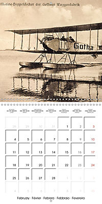 Biplanes on historic postcards (Wall Calendar 2019 300 × 300 mm Square) - Produktdetailbild 2