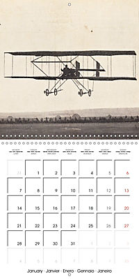 Biplanes on historic postcards (Wall Calendar 2019 300 × 300 mm Square) - Produktdetailbild 1