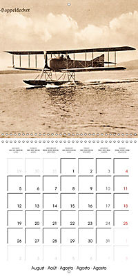 Biplanes on historic postcards (Wall Calendar 2019 300 × 300 mm Square) - Produktdetailbild 8