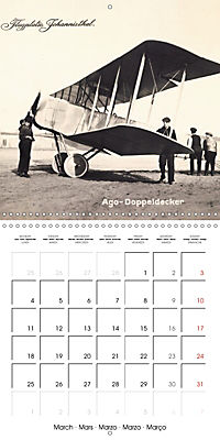 Biplanes on historic postcards (Wall Calendar 2019 300 × 300 mm Square) - Produktdetailbild 3