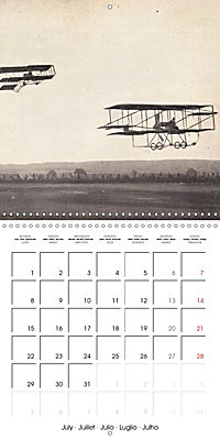 Biplanes on historic postcards (Wall Calendar 2019 300 × 300 mm Square) - Produktdetailbild 7