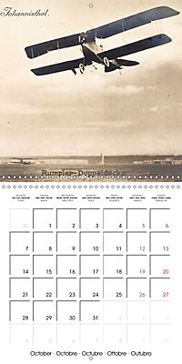 Biplanes on historic postcards (Wall Calendar 2019 300 × 300 mm Square) - Produktdetailbild 10
