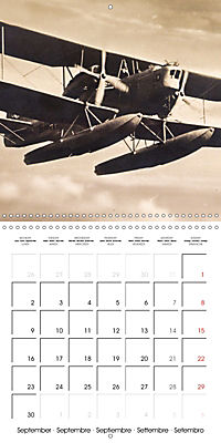 Biplanes on historic postcards (Wall Calendar 2019 300 × 300 mm Square) - Produktdetailbild 9