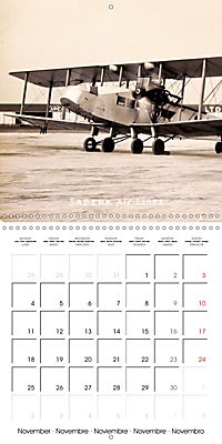 Biplanes on historic postcards (Wall Calendar 2019 300 × 300 mm Square) - Produktdetailbild 11