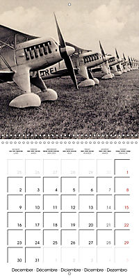 Biplanes on historic postcards (Wall Calendar 2019 300 × 300 mm Square) - Produktdetailbild 12
