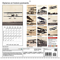 Biplanes on historic postcards (Wall Calendar 2019 300 × 300 mm Square) - Produktdetailbild 13