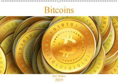 Bitcoins (Wandkalender 2019 DIN A2 quer), BTC Wallets