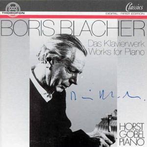 Blacher: Das Klavierwerk, Horst Göbel