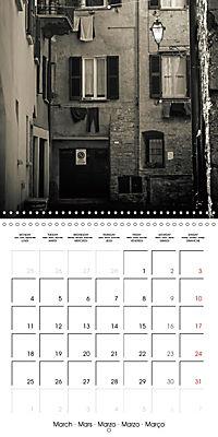 black and white italian alleys (Wall Calendar 2019 300 × 300 mm Square) - Produktdetailbild 3