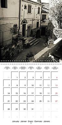 black and white italian alleys (Wall Calendar 2019 300 × 300 mm Square) - Produktdetailbild 1