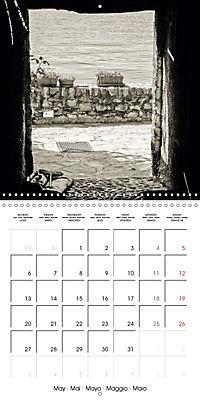 black and white italian alleys (Wall Calendar 2019 300 × 300 mm Square) - Produktdetailbild 5