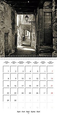 black and white italian alleys (Wall Calendar 2019 300 × 300 mm Square) - Produktdetailbild 4