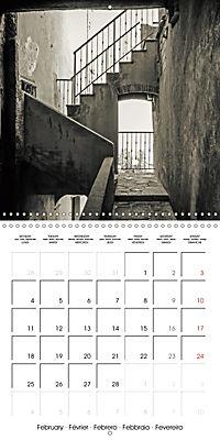 black and white italian alleys (Wall Calendar 2019 300 × 300 mm Square) - Produktdetailbild 2